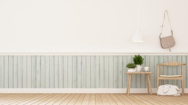 Spogliatoio o area soggiorno- rendering 3d