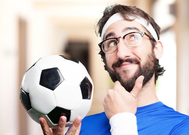 Sport folli espressione man.funny