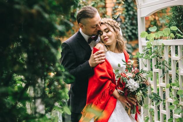 Sposi nel giorno del matrimonio