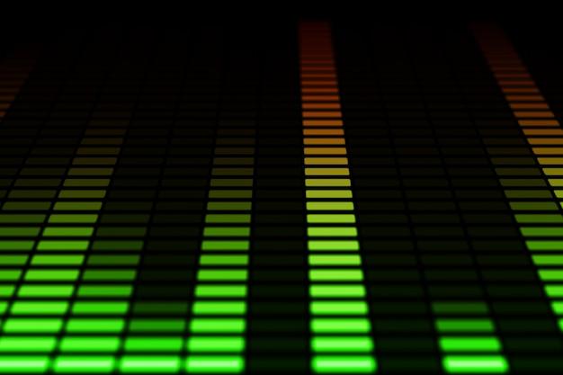 Spostamento delle barre dell'equalizzatore audio