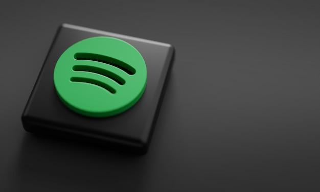 Spotify logo render close up.