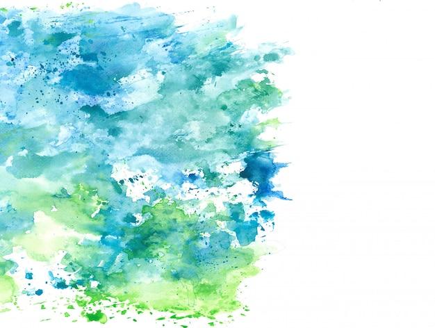 Spruzzata astratta dell'acquerello blu e verde