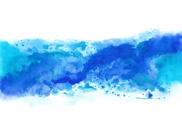 Spruzzata blu astratta dell'acquerello