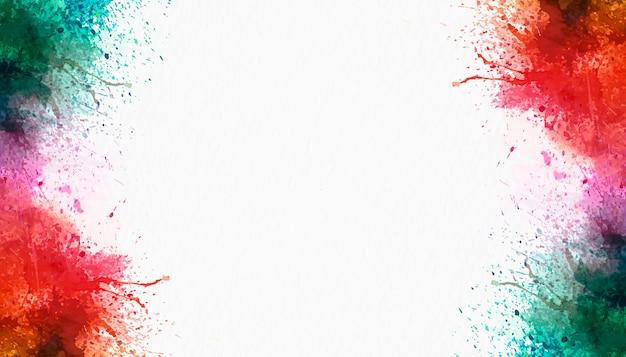 Spruzzata dell'acquerello su sfondo bianco