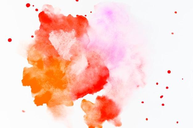 Spruzzata di colore rosso e giallo