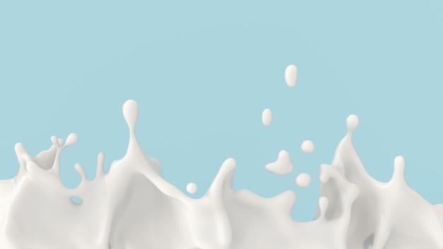 Spruzzata di latte o yogurt