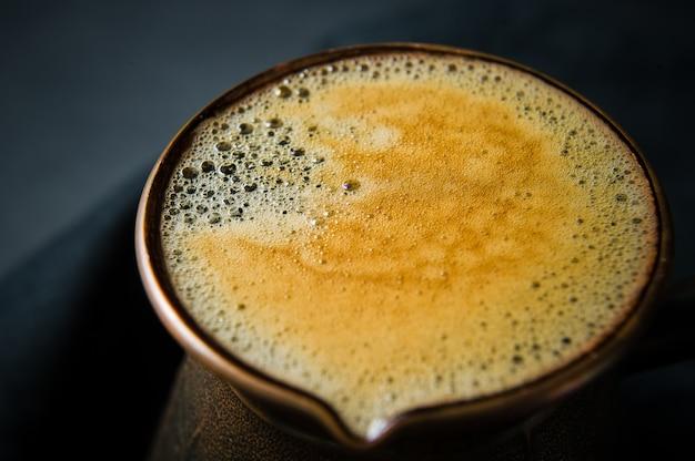 Spuma di caffè a turk.