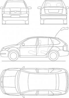 Stampa auto trasporto modello di auto