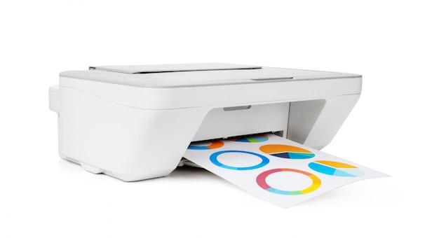 Stampante a getto d'inchiostro isolata su bianco