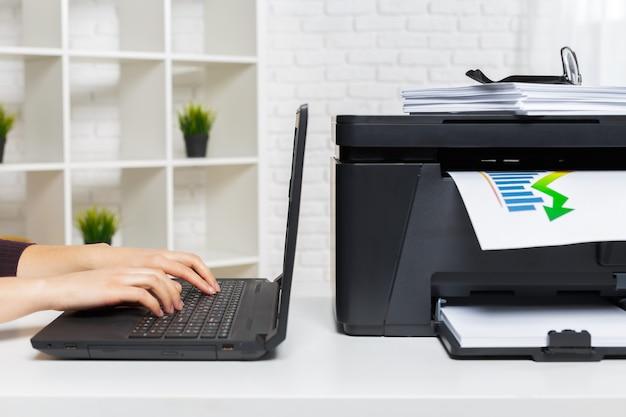 Stampante in ufficio