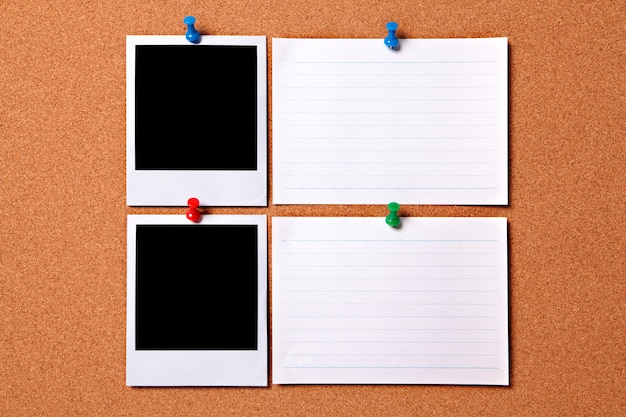 Stampe fotografiche polaroid e le schede bianche messaggi