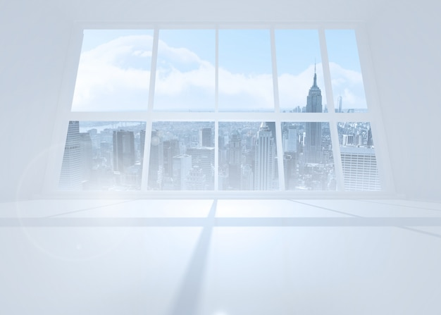 Stanza luminosa con finestre