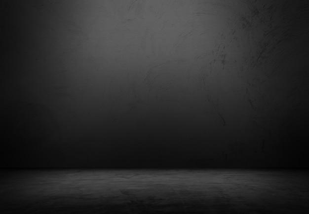 Stanza vuota di mattoni neri