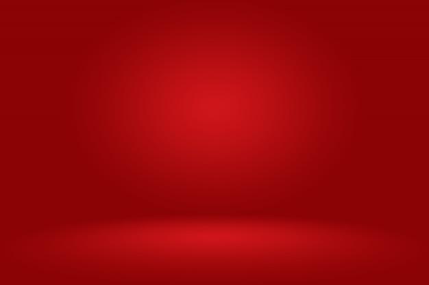 Stanza vuota rossa astratta