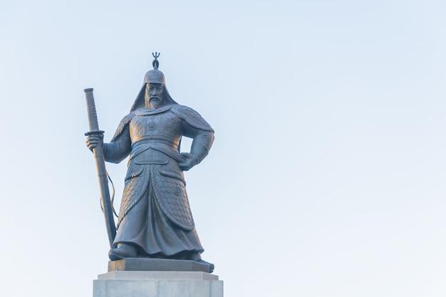 Statua del soldato nella città di seoul della corea