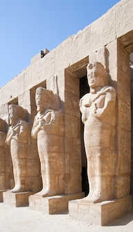 Statue nel tempio di karnak