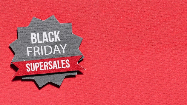 Stella di carta con offerta del black friday
