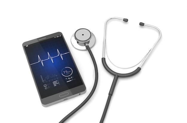 Stetoscopio con smartphone
