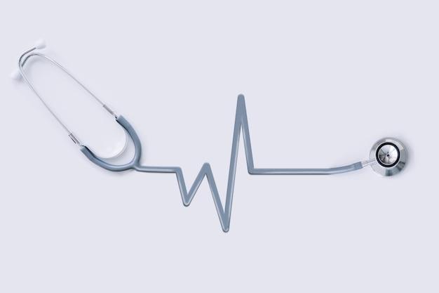 Stetoscopio con tubo per contorni di impulsi