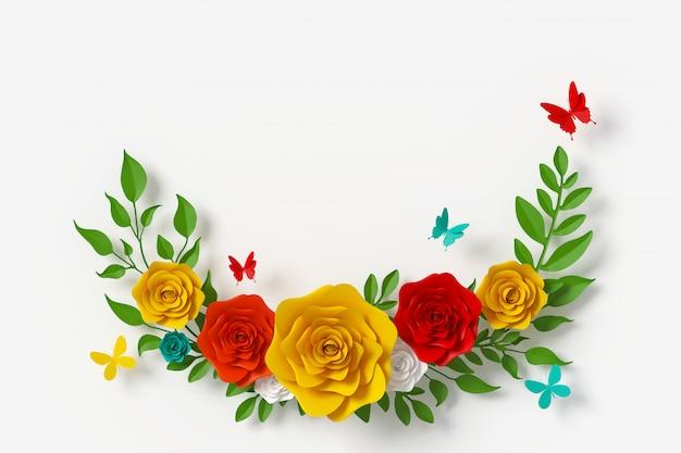 Stile carta di fiori
