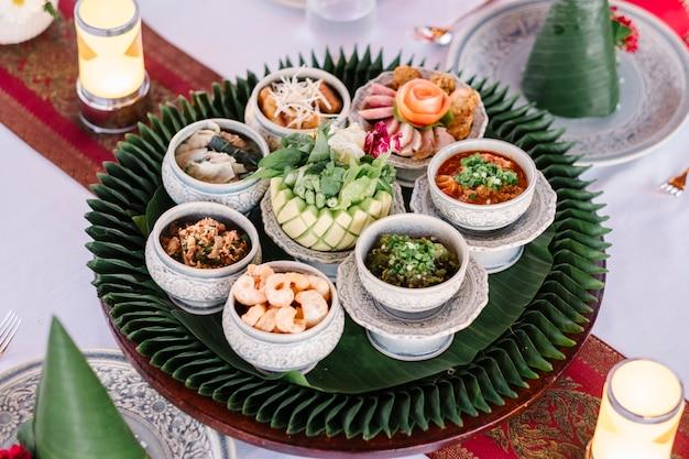 Stile di cibo tailandese del nord