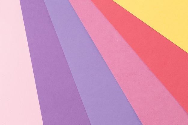 Stile di design materiale della carta a colori. sfondo di colori pastello