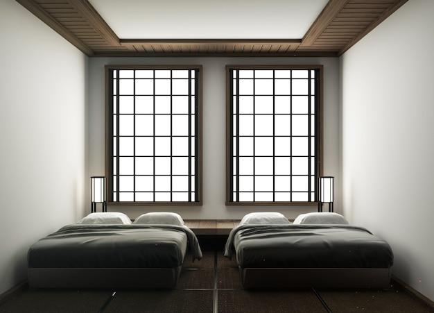 Stile giapponese della camera d'albergo design-camera da letto in stile giapponese
