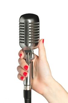 Stile retrò microfono audio