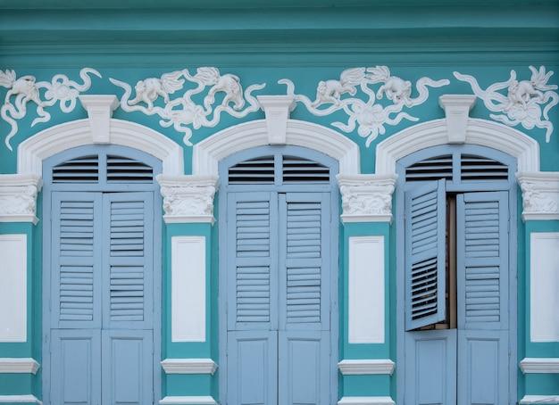 Stili di finestre belli e colorati.