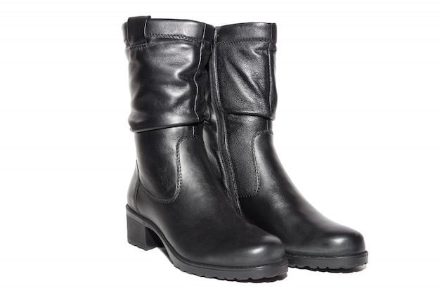 Stivali da donna in pelle nera