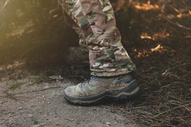 Stivali militari marroni
