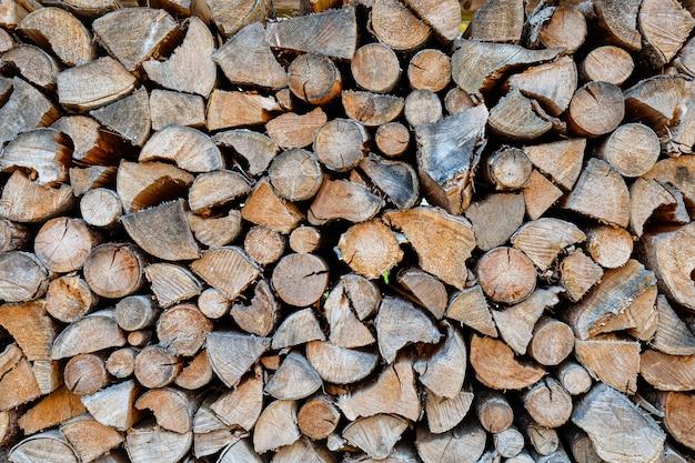 Stock di bella trama di legna da ardere