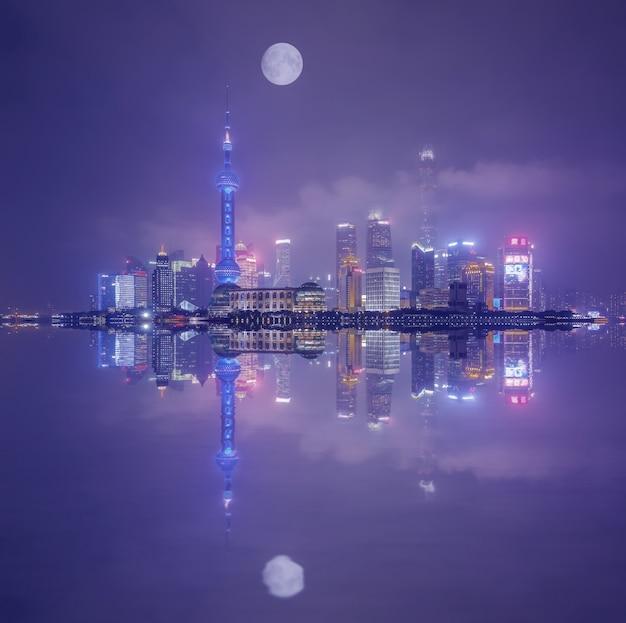 Strada bellissimo centro giallo famoso shanghai