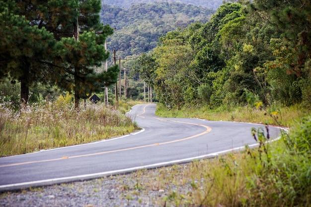Strada brasiliana vuota