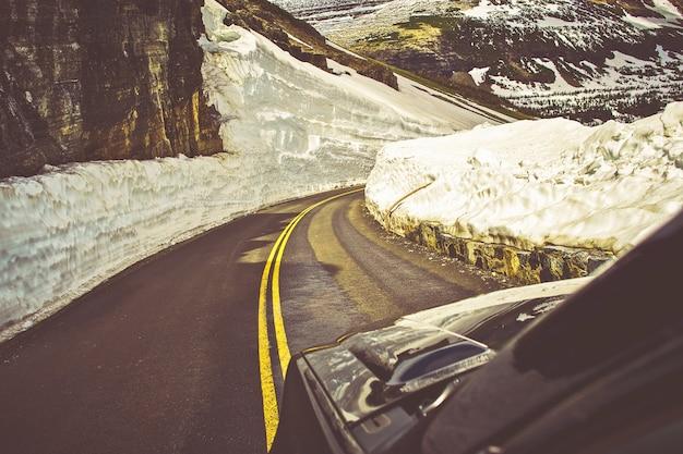 Strada del rischio per la valanga