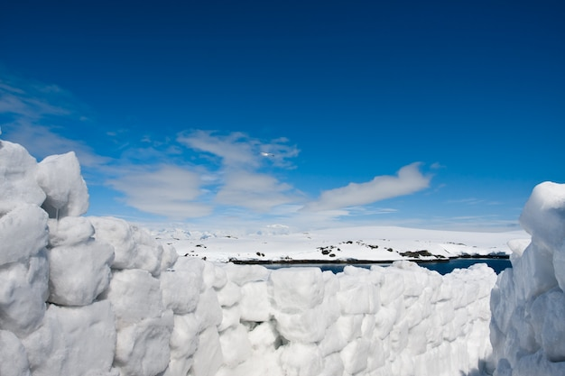 Strada della neve