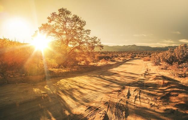 Strada di campagna di sabbia