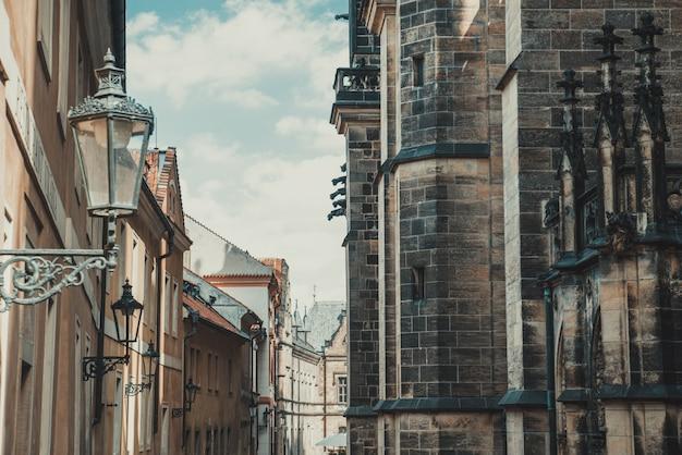 Strada in stile medievale a praga