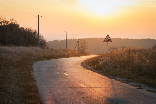 Strada per il tramonto