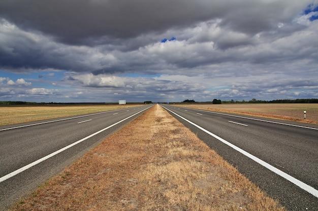 Strada sui campi della polonia