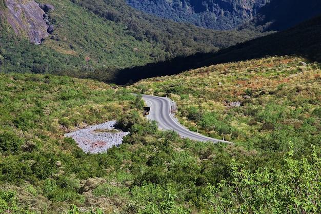 Strada sull'isola del sud, nuova zelanda