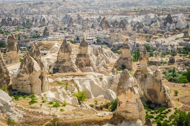 Strano paesaggio di cappadocia, turchia