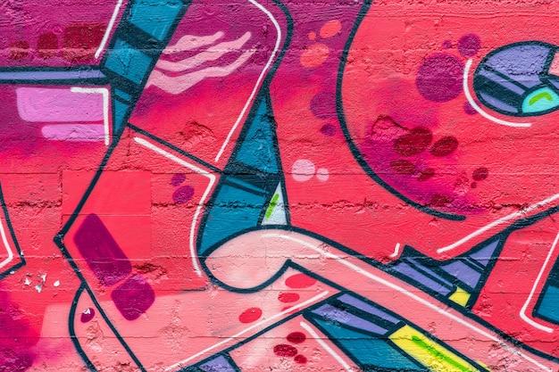 Street art, graffiti colorati sul muro