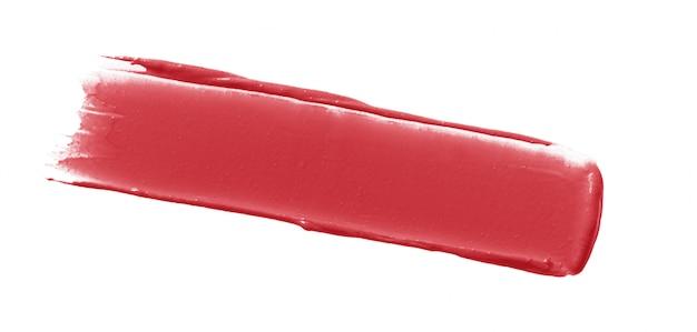 Striscio di rossetto isolato su bianco