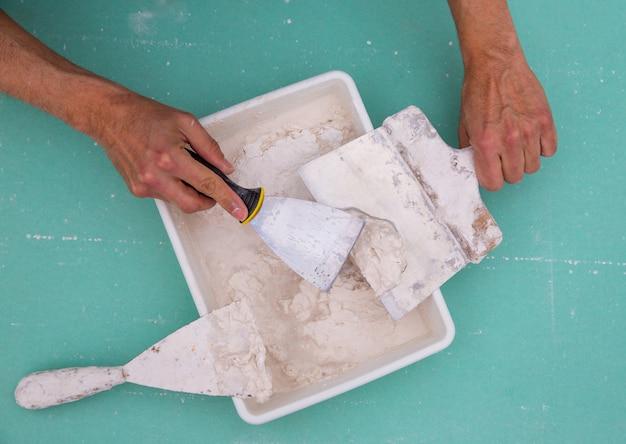 Strumenti di platering per intonaco come spatola spatola di plaste