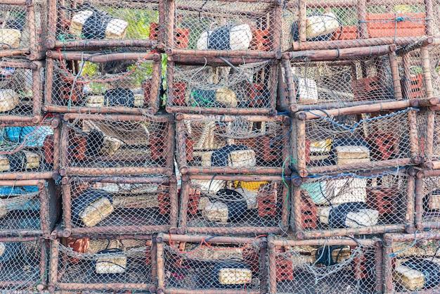 Strumento di pesca tradizionale tailandese