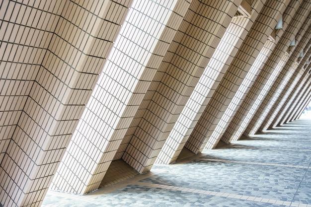 Struttura artistica di architettura del centro culturale di hong kong, hong kong, cina