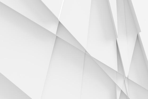 Struttura astratta dalle superfici tagliate dell'illustrazione 3d di diverse dimensioni