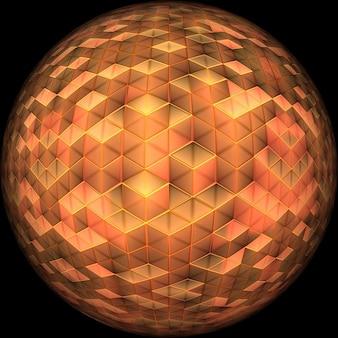 Struttura astratta modello palla gradualmente