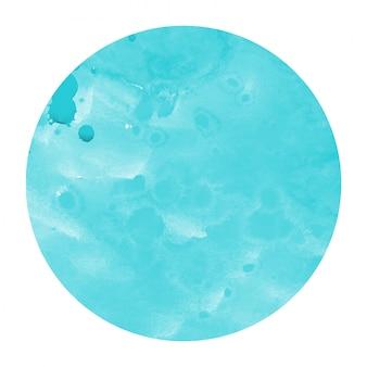 Struttura circolare del fondo della struttura dell'acquerello disegnato a mano blu-chiaro con le macchie